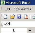 Az Excel ablakának részei I.