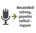 Beszédből szöveg, gépelés nélkül - ingyen
