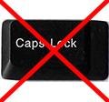 Caps Lock kikapcsolása egyszerűen