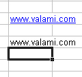 Weboldal címek a munkafüzetben