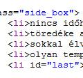A kódgeneráló használata egy ingyenes kódszerkesztővel, HTML-hez - részlet