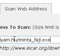 Linkelt fájl ellenőrzése több víruskeresővel