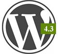 WordPress 4.3 bemutató