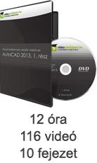 Tanulj hatékonyan oktató videóval: AutoCAD 2013, 1. rész