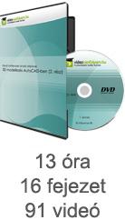 Tanulj hatékonyan oktató videóval: 3D modellezés AutoCAD-ben (2. rész)