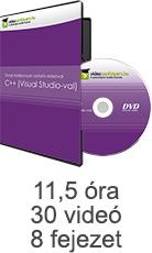 Tanulj hatékonyan oktató videóval: C++ (Visual Studio-val)