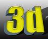 Sárga 3D szöveg