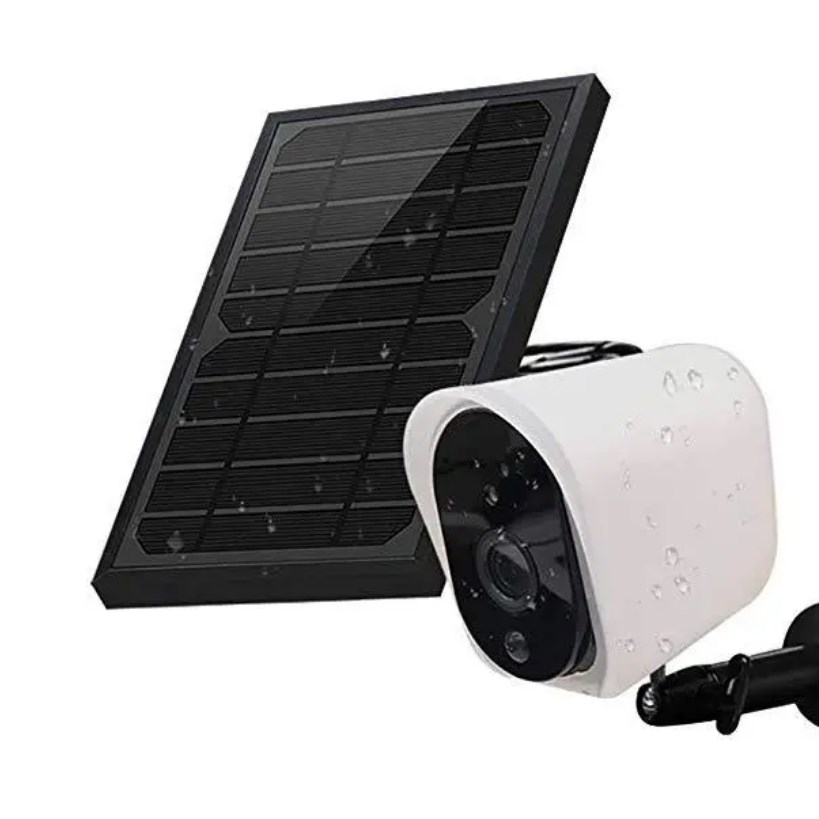 Vezetéknélküli, akkumulátoros kamera, napelemmel