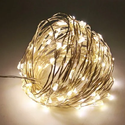 10 méteres fehér karácsonyi világítás