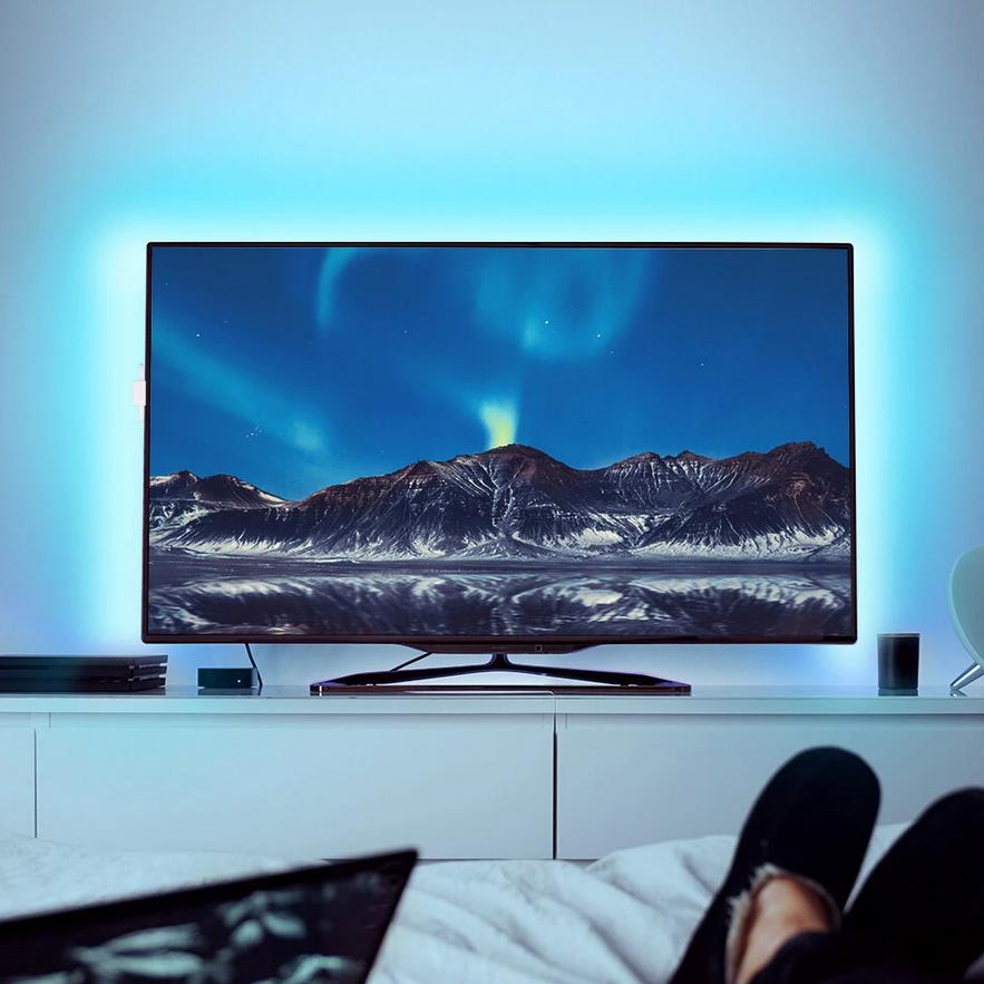 BlitzWolf BW-LT32 - TV kijelző tartalma szerint fény hátteret ad a TV-nek