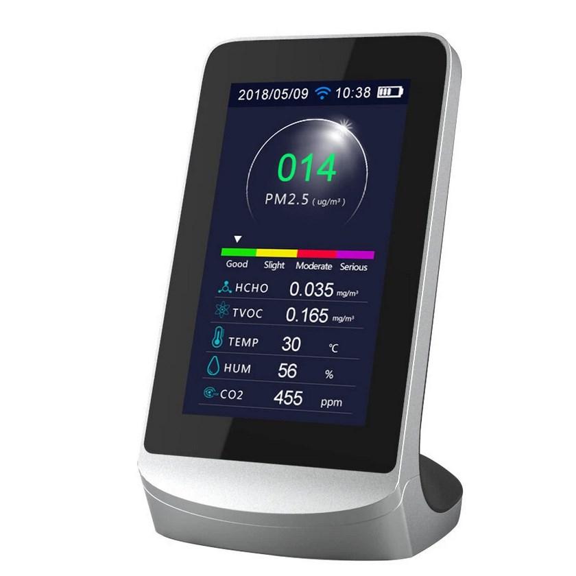 Légminőség ellenőrző kijelzővel - PM2.5, CO, stb.