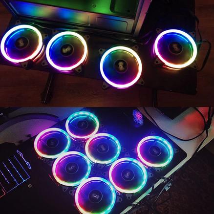 Távirányítós, RGB ventilátor számítógépbe