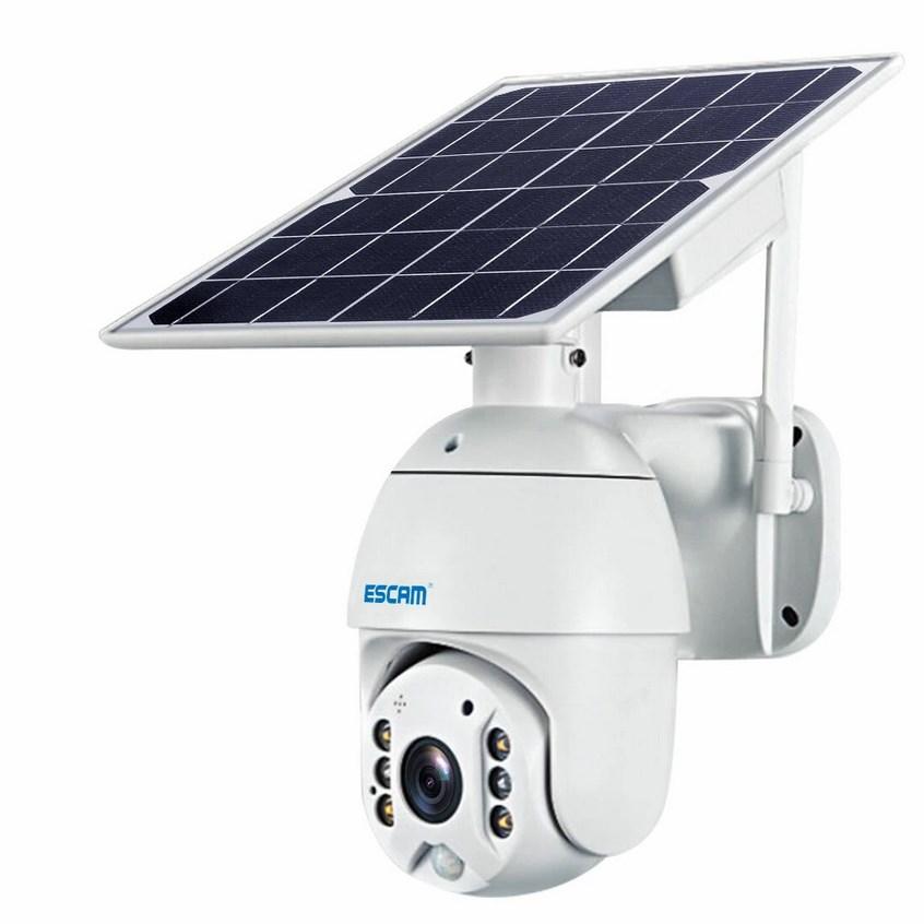 ESCAM QF280 vezetéknélküli, akkumulátoros kamera, napelemmel