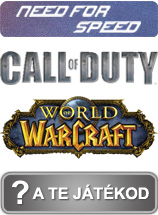 Need for speed, Call of duty, World of warcraft